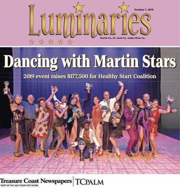Cover The Stuart News October 07, 2019 - photo of the dancers