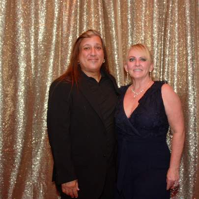 Star dancer Dean Lopes and Candace Lopes, sponsor with Skin Serenity Spa
